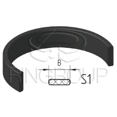 Опорно-направляющее кольцо поршня S1 производства ООО «МПИ-Агро» TM Ringroup