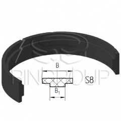 Опорно-направляющее кольцо поршня S8 производства ООО «МПИ-Агро» TM Ringroup