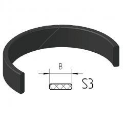 Piston guide rings S3