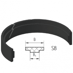 Piston guide rings S8