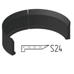 Piston support and dirt protection ring S24